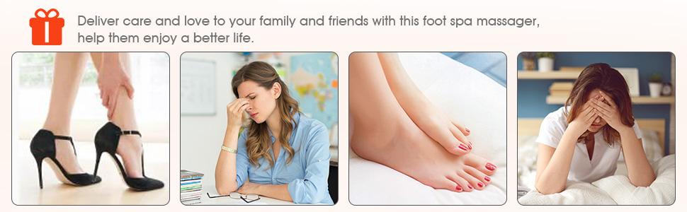 tub foot feet bath spa massage soak pedicure bowls bucket Jets gift present birthday parent lover