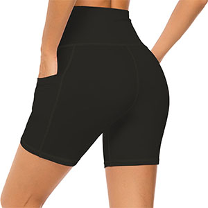 mint lilac shorts black pocket