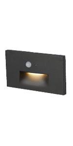 ASD LED Step Light Horizontal with Motion Sensor and Photocell