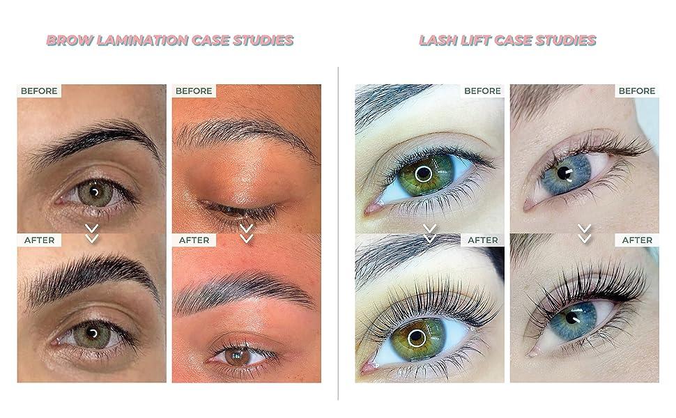 Brow Lamination Lash Lift Before After Lash Lifting Lotions Collagen Eyelash Perming