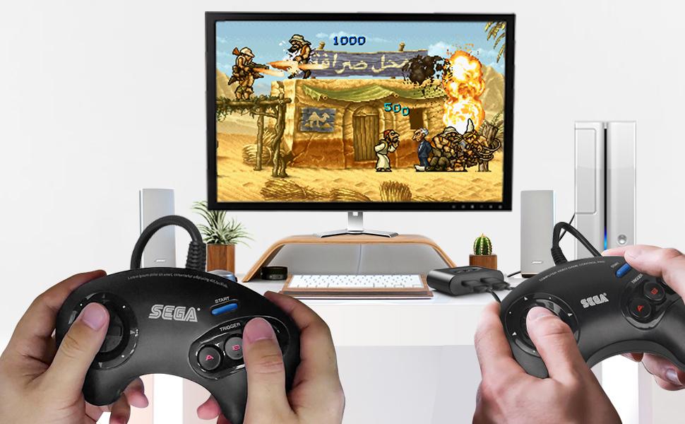 SEGA Genesis amp; Mega Drive Controller Adapter for Nintendo Switch Windows