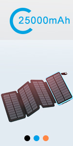 solar charger blue