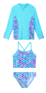 3pcs girls swimsuit