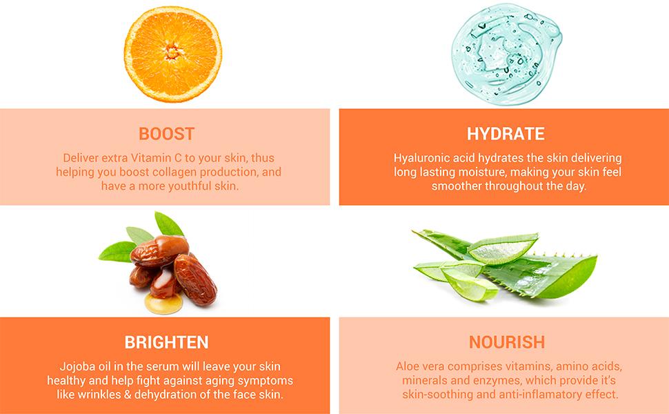 vitamin c serum for face korean skincare derma roller dark circles remover eye serum hyaluronic acid