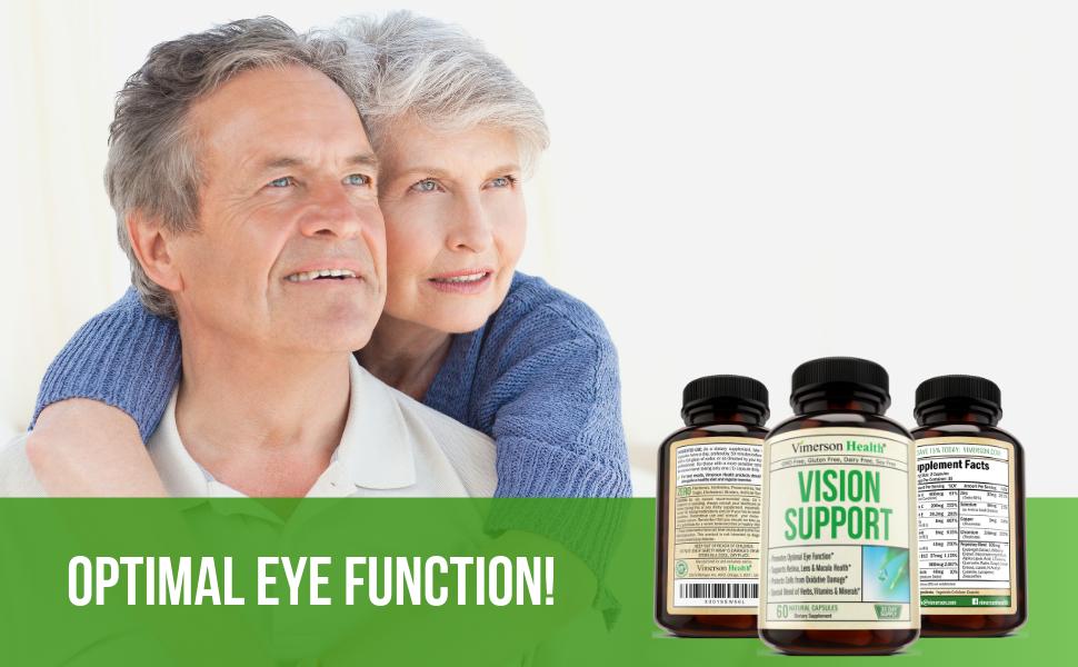Vision Support Eyes Lutein Zeaxanthin Vitamin A C E Zinc Calcium Selenium Vimerson Health Supplement