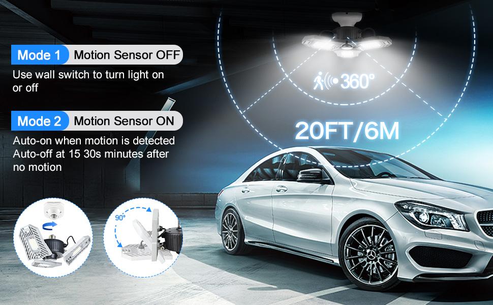 motion sensor led ceiling garage light