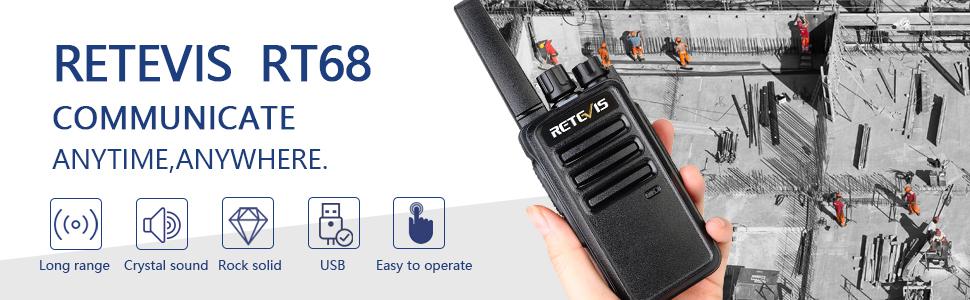 rugged, heavy duty walkie talkie