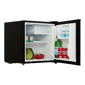 black mini fridge
