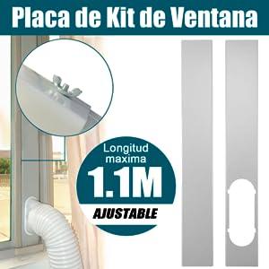 fllyingu Ventana Ajustable Diapositiva Cubierta para Aire Acondicionado Port/átil Ventanas Corredera,Conector de Adaptador de Ventana Aire Acondicionado port/átil Functional Justifiable