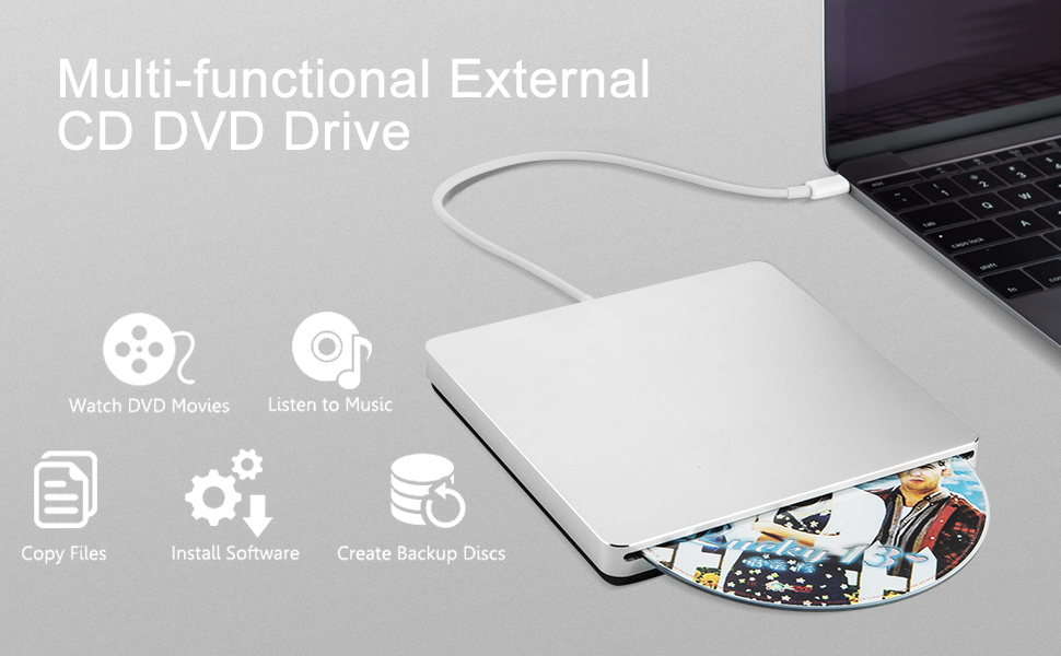 USB 2.0 External CD//DVD Drive for Apple macbook pro 15 inch ma609ch a