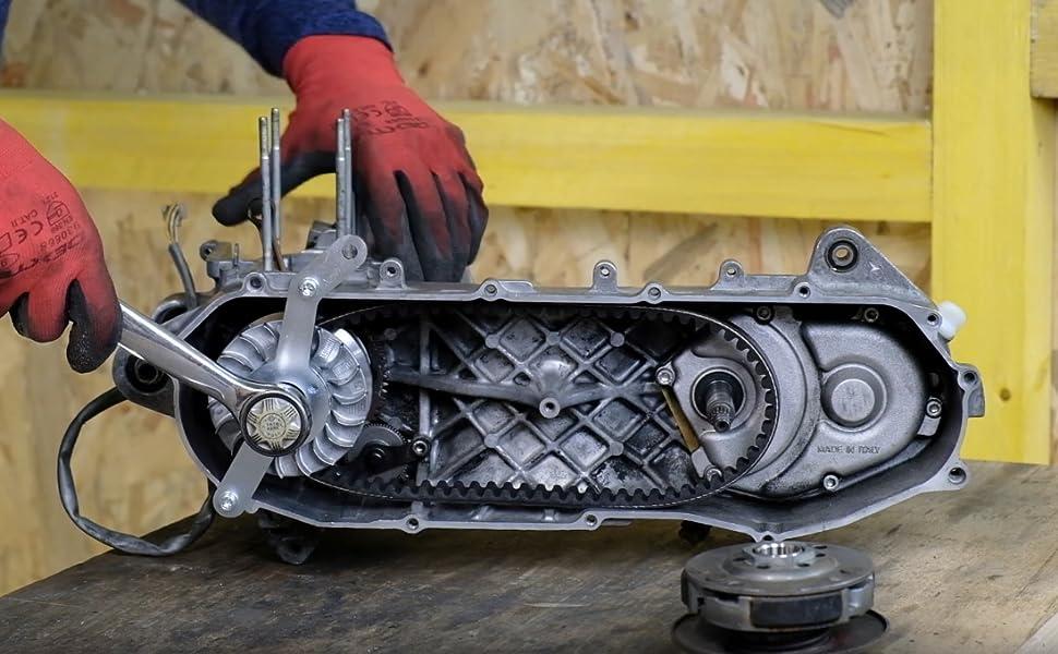 Easyboost Vario Blockierwerkzeug Für Yamaha Aerox Jog R Neo S Mbk Nitro Booster Bw S Stunt Slider Minarelli Alle Modelle Montagewerkzeug Haltewerkzeug Gewichte Oder Keilriemen Zu Wechseln Auto
