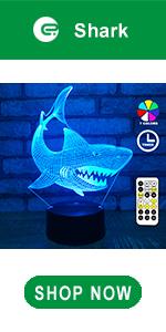 easuntec shark 3d led illusion lamp
