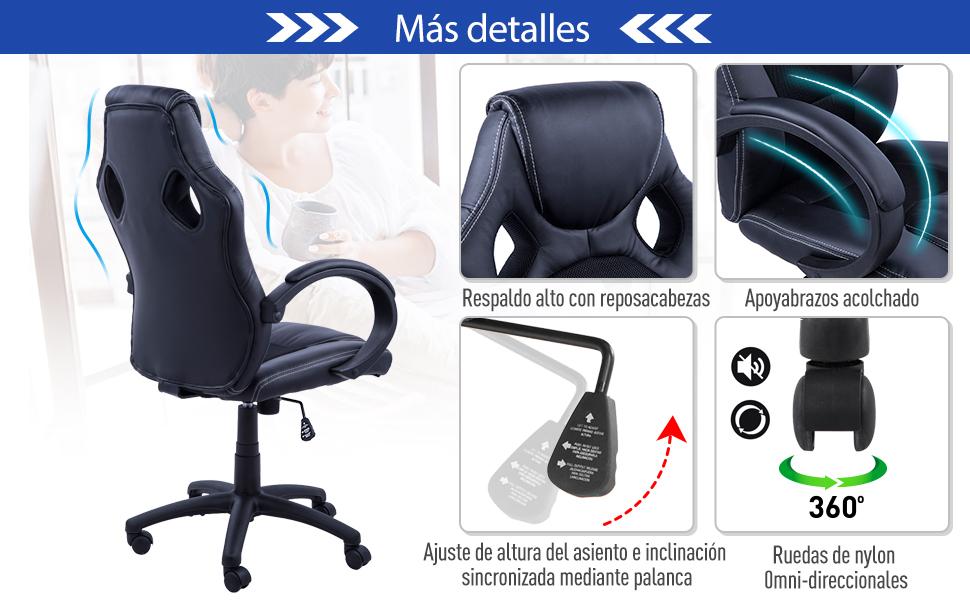 Silla Oficina Ejecutiva Deportiva Sillon Estudio Direccion ...