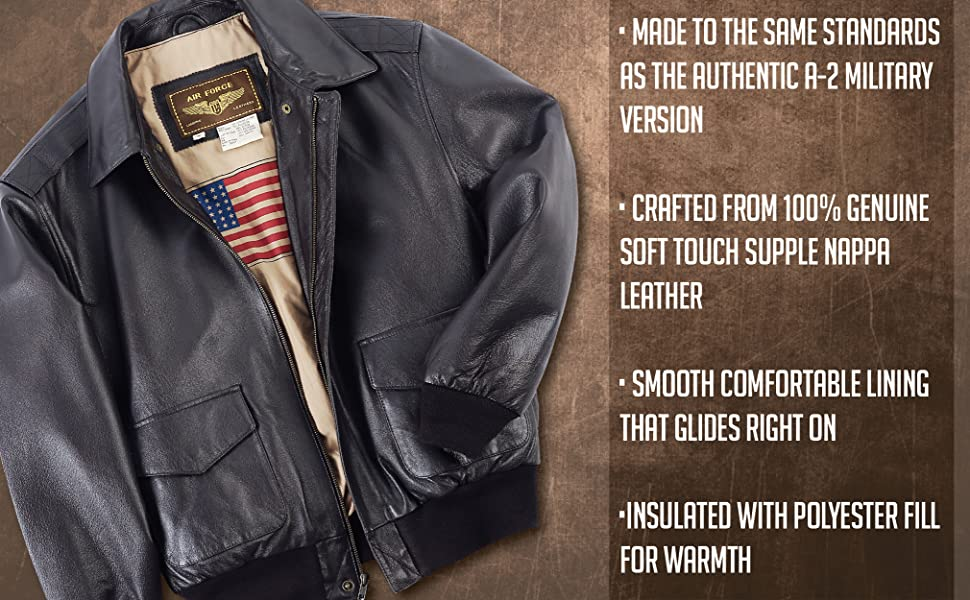 Landing Leathers Air Force Bomber Jacket