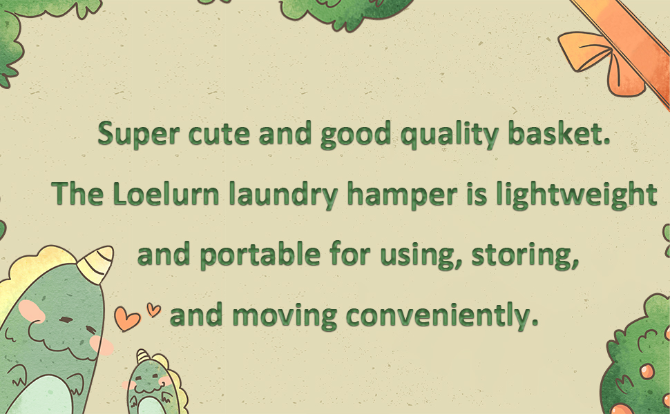 Loelurn Laundry Baskets Dinosaur for Baby Boys Set of 2 Parasaurolophus Round Large Dirty Clothes Hampers Collapsible Storage for Kids Toys Nursery Playroom Bedroom 19.7 and 13.4 inch Green