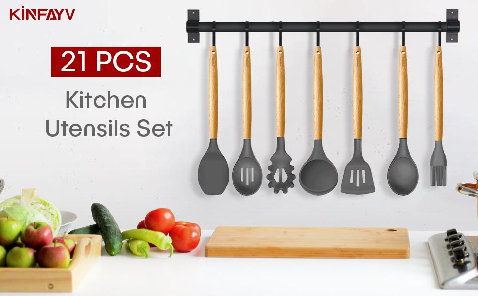 kitchen utensil set cooking utensils set