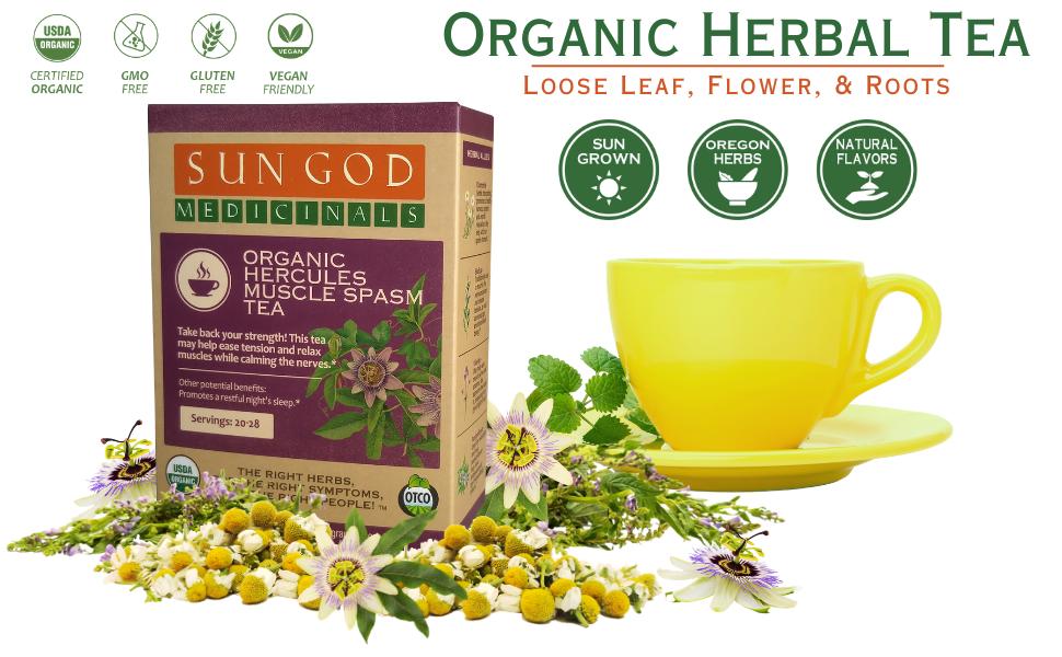 Hercules Organic Herbal Tea for Muscle Ease