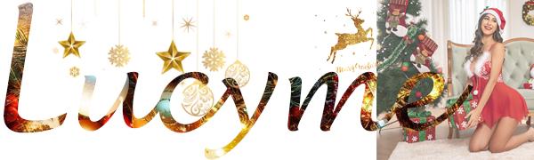 Damen Dessous Set Weihnachten Chrismas Kostüm Lingerie Nicolaus Weihnachts Babydoll Rot