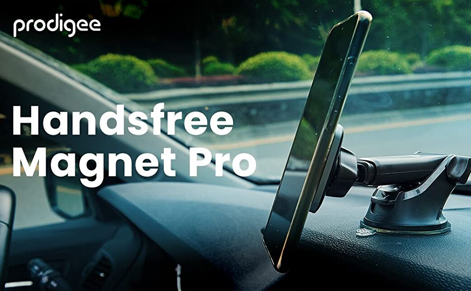 Magnet Pro+ Dash Prodigee Super Strong Magnetic Car Mount Dashboard Windshield Phone Holder Adjustable 360 Rotation with 6 Super Powerful Magnets N52 Grade