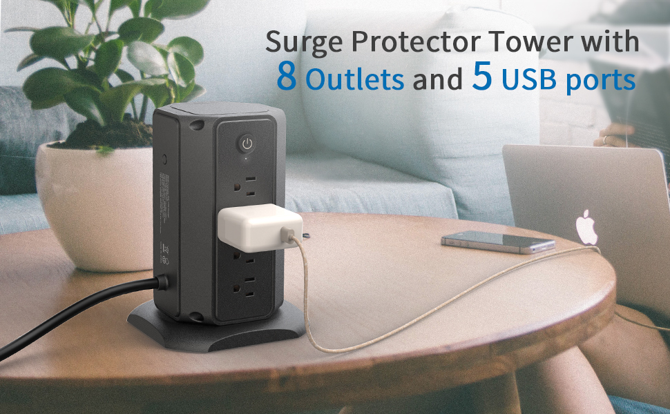 power strip tower with usb ports
