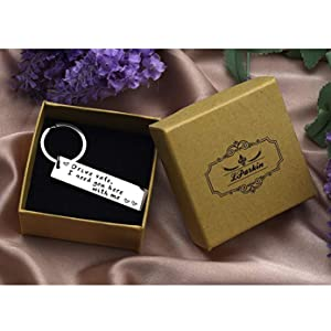 LParkin Drive Safe Keychain I Need You Here with Me Trucker Husband Gift for Husband dad Gift Valentines Day Stocking Stuffer