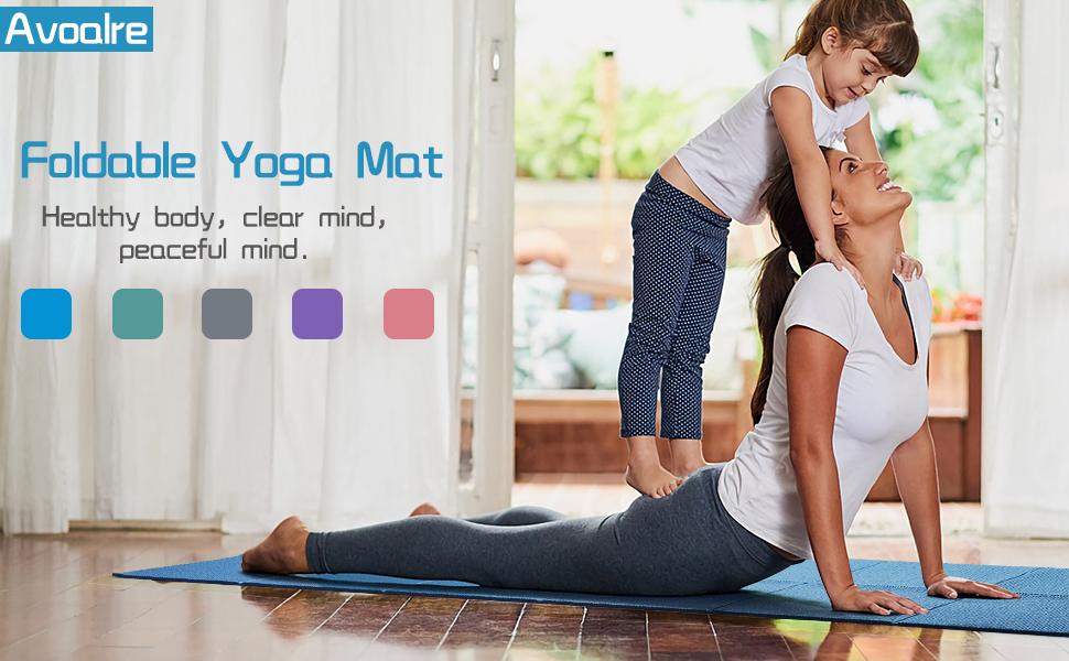 Yoga Mat Opvouwbaar Non-Slip Draagbaar