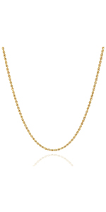 Jewelry Atelier Gold Filled Rope Chain Necklace