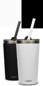 black white stainless steel kids cups older kids adults drinkware