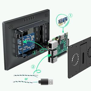 raspberry pi touchscreen case kit