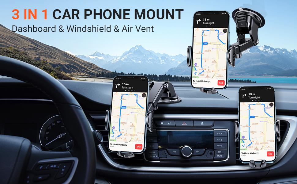3 in 1 car phone mount
