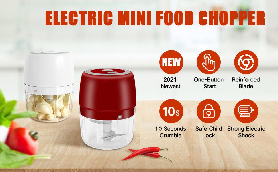 Mini Garlic Chopper,Portable Electric Food Chopper