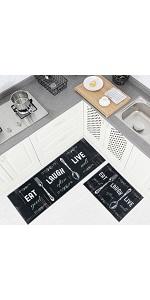 Fashion kitchen throw rug set