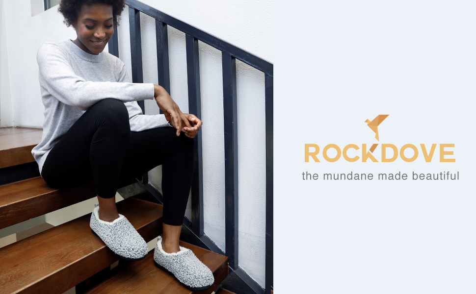 RockDove womens memory foams slippers indoor outdoor house shoes warm