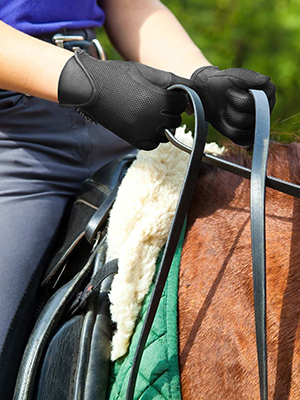 FitsT4 Horse Riding Gloves Equestrian Horseback Riding Gloves Outdoor Breathable Stretchable Horse Show Glove for Kids Youth