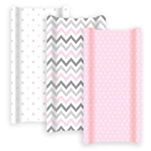 Diaper changing pad covers baby girl pink grey sheets nursery