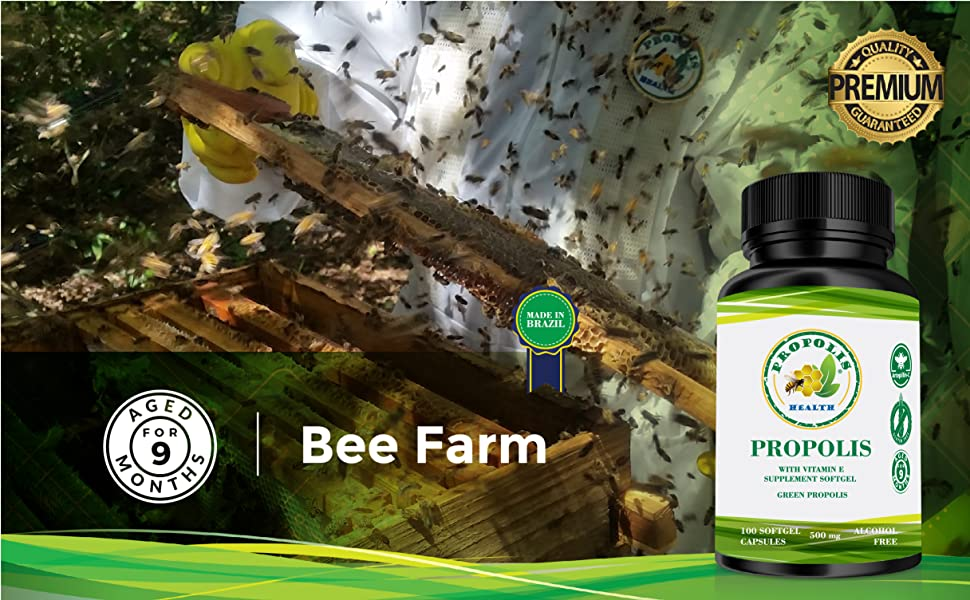 Bee farm bee therapy capsules propolis soft gel bee propolis softgel super propolis vitamin e with