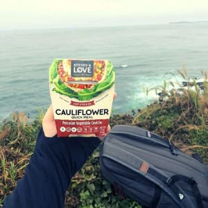 cauliflower quick meal peruvian vegetable ceviche hiking camping food travel ready-to-eat