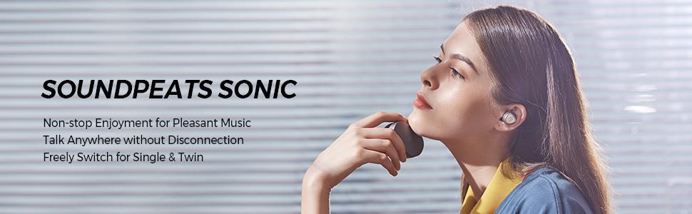 sonic headphone wireless