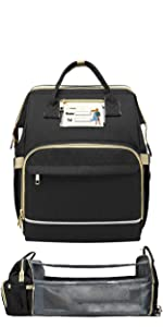 baby diaper bag with changing station