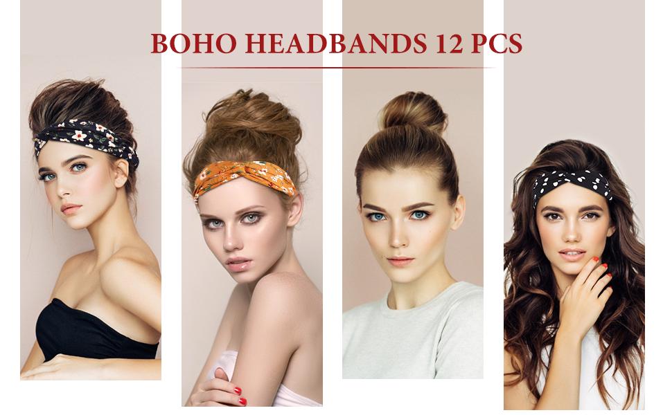 12pcs Boho  Headband Frcolor 2