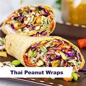 Thai Peanut Wraps