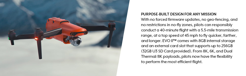 Autel Robotics 8k drone camera
