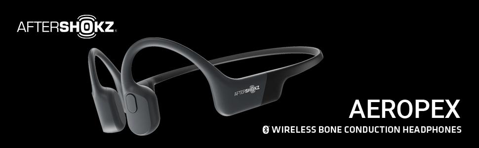 AfterShokz Aeropex wireless, open-ear, bone conduction headphones