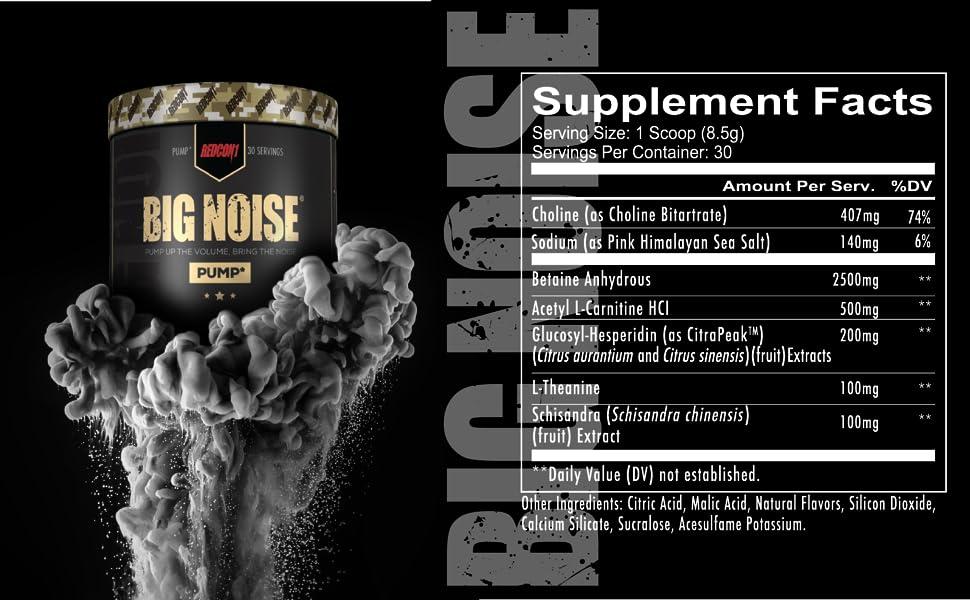 Big Noise Supplement Facts