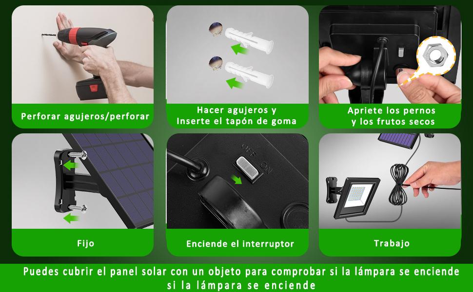 Foco Solar con Sensor
