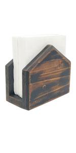 Wooden Rustic Brown Napkin Holder