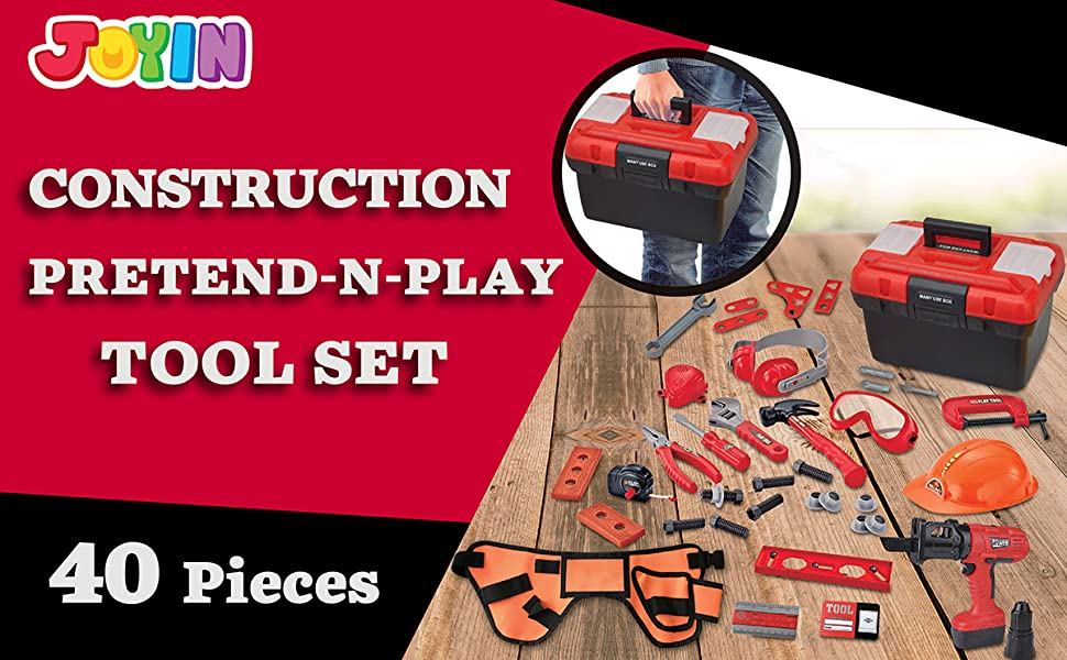 40 Pieces Toy Tool Construction Set