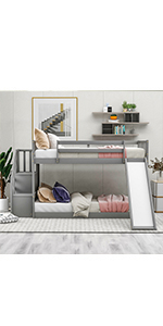 TwinBunk Beds with Slide
