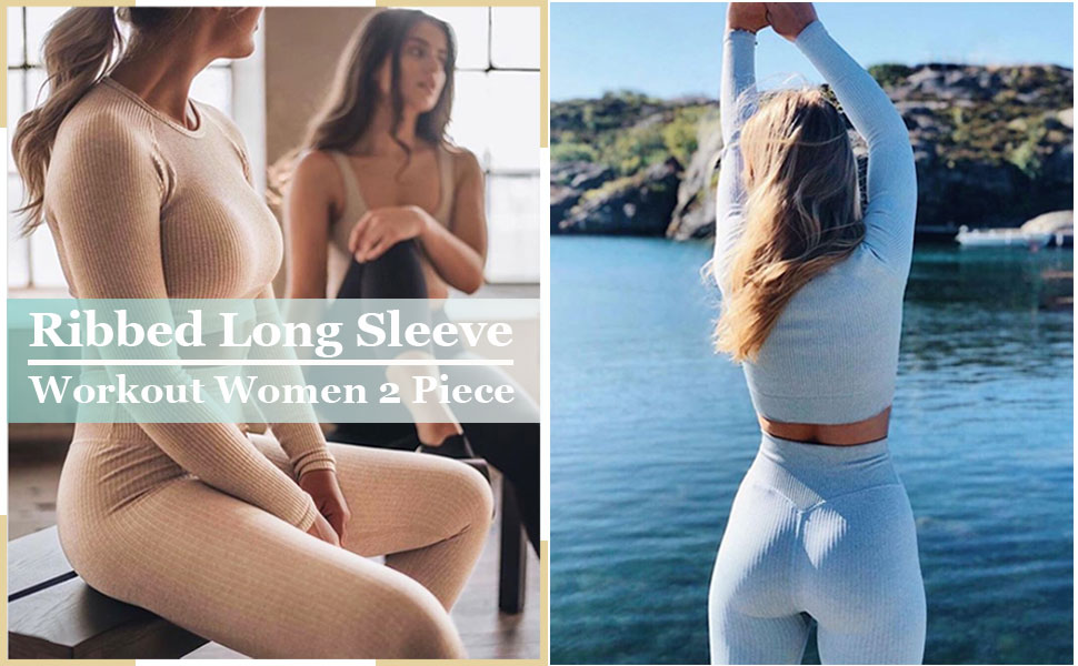 Buscando Long Sleeve Workout Sets for Women