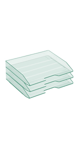 Acrimet Stackable Letter Tray Side Load White
